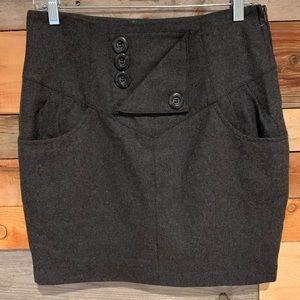 Tulle Wool Blend Miniskirt